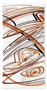 Abstract Pen Drawing Ten Beach Towel