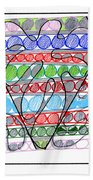 Abstract Pen Drawing Thirteen Beach Towel