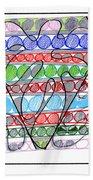 Abstract Pen Drawing Thirteen Beach Sheet