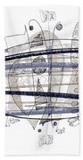 Abstract Pen Drawing Thirty-four Beach Towel