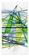 Abstract Pen Drawing Thirty Beach Towel