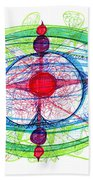 Abstract Pen Drawing Thirty-one Beach Towel