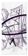 Abstract Pen Drawing Thirty-six Beach Towel