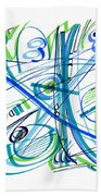 Abstract Pen Drawing Thirty-three Beach Towel