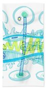 Abstract Pen Drawing Twenty-five Beach Towel