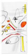 Abstract Pen Drawing Twenty-four Beach Towel