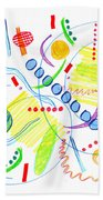Abstract Pen Drawing Twenty-seven Beach Towel