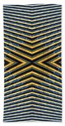 Abstract Photomontage Mid Continental Plaza N132p1 Dsc5528 Beach Towel
