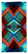 Abstract Photomontage No 3 Beach Towel
