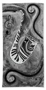 Piano Keys In A Saxophone 1 - Music In Motion Beach Towel