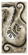 Piano Keys In A Saxophone 3 - Music In Motion Beach Sheet