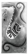 Piano Keys In A Saxophone 4 - Music In Motion Beach Towel