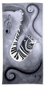 Piano Keys In A Saxophone 5 - Music In Motion Beach Towel