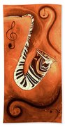 Piano Keys In A Saxophone - Music In Motion Beach Towel