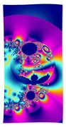 Abstract Pink And Turquoise Fractal Globe Beach Towel