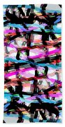 Abstract Pink Beach Towel