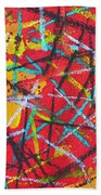 Abstract Pizza 2 Beach Towel