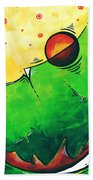 Abstract Pop Art Original Painting Beach Towel