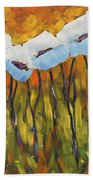 Abstract Poppies Beach Towel