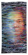 Abstract Portrait Beach Towel