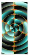 Abstract Radial Object Beach Towel