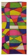 Abstract Rainbow Of Color Beach Towel
