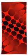 Abstract Red And Black Ornament Beach Sheet