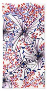 Abstract Red And Blue Design  Beach Towel