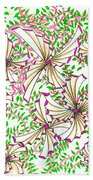 Abstract Red And Green Design #1 Beach Towel