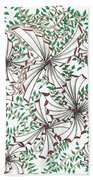 Abstract Red And Green Design  Beach Towel