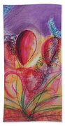 Abstract Red And Purple And Blue Beach Towel