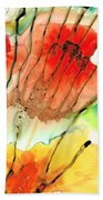 Abstract Red Art - The Promise - Sharon Cummings Beach Sheet