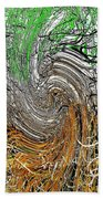 Abstract Reeds Beach Towel