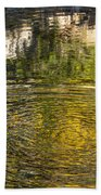 Abstract River Reflection Beach Towel