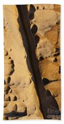 Abstract Rock With Diagonal Line Beach Sheet