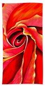Abstract Rosebud Fire Orange Beach Towel