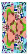 Abstract Seamless Pattern - Blue Pink Green Purple Beach Towel