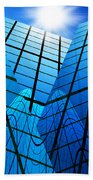 Abstract Skyscrapers Beach Towel