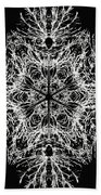 Abstract Snowfalke Beach Towel