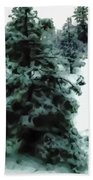 Abstract Snowy Trees Lighter Beach Towel