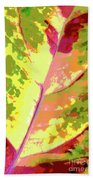 Abstract Summer's End Beach Towel