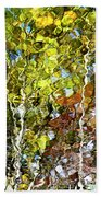 Abstract Tree Reflection Beach Towel