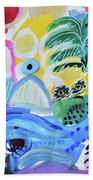 Abstract Tropical Landscape Beach Towel