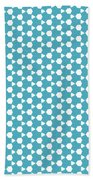 Abstract Turquoise Pattern 1 Beach Towel