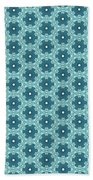 Abstract Turquoise Pattern 4 Beach Towel