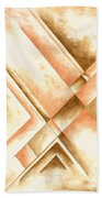 Abstract Unique Original Painting Contemporary Art Champagne Dreams I By Madart Beach Towel