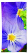 Abstract Violets Beach Towel