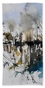 Abstract Watercolor 012130 Beach Towel