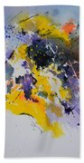 Abstract Watercolor 70075 Beach Towel