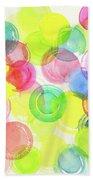 Abstract Watercolor Circles Beach Towel